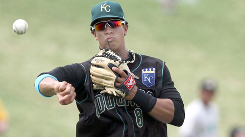 Third baseman Cheslor Cuthbert is Kansas city's No. 5 prospect.